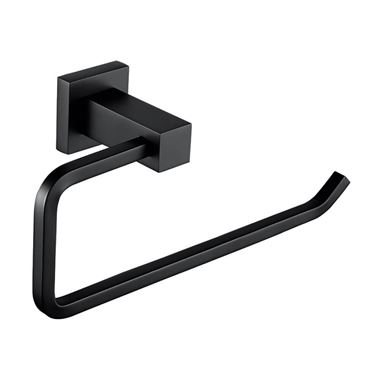 Vellamo Twist Matt Black Towel Ring